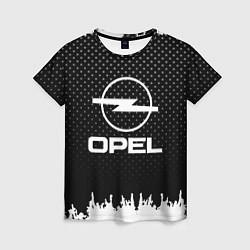 Футболка женская Opel: Black Side цвета 3D-принт — фото 1