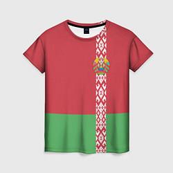 Футболка женская Беларусь цвета 3D-принт — фото 1