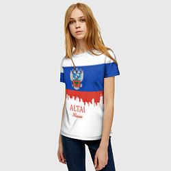 Футболка женская Altai: Russia цвета 3D-принт — фото 2