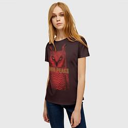 Футболка женская Twin Peaks: Red Owl цвета 3D-принт — фото 2