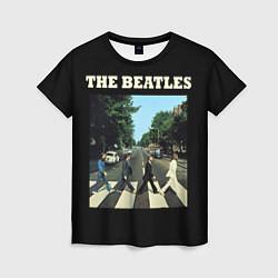 Футболка женская The Beatles: Abbey Road цвета 3D-принт — фото 1