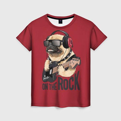 Женская футболка On the rock / 3D-принт – фото 1