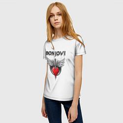Футболка женская Bon Jovi цвета 3D — фото 2
