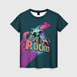 Футболка женская Rocket цвета 3D-принт — фото 1