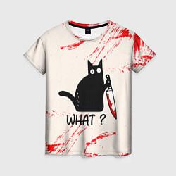 Футболка женская What cat цвета 3D — фото 1