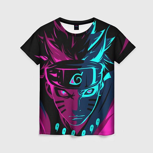 Женская футболка Неоновый НАРУТО / 3D – фото 1