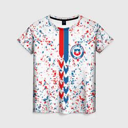 Футболка женская Сборная Чили цвета 3D — фото 1