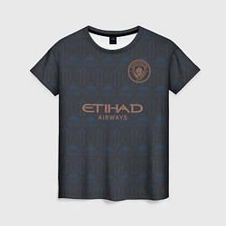 Футболка женская Manchester City Cup Away 202122 цвета 3D-принт — фото 1