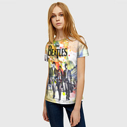 Футболка женская The Beatles: Colour Spray цвета 3D-принт — фото 2
