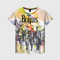 Футболка женская The Beatles: Colour Spray цвета 3D-принт — фото 1