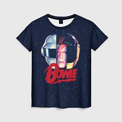 Футболка женская Bowie Space цвета 3D — фото 1