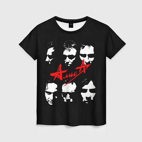 Женская футболка Группа АлисА / 3D – фото 1