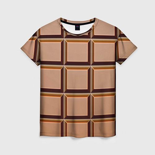 Женская футболка Шоколад / 3D – фото 1
