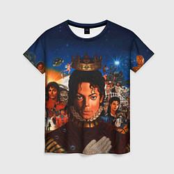 Футболка женская Michael Jackson: Pop King цвета 3D-принт — фото 1