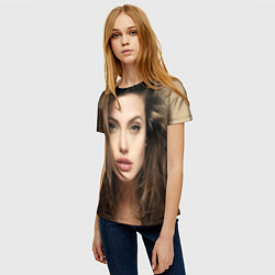 Футболка женская Анжелина Джоли цвета 3D — фото 2