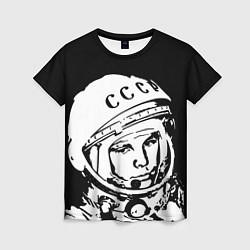 Футболка женская Гагарин цвета 3D-принт — фото 1