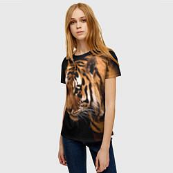 Футболка женская Тигрица цвета 3D — фото 2