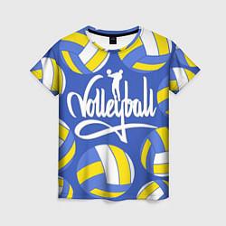 Футболка женская Волейбол 6 цвета 3D-принт — фото 1