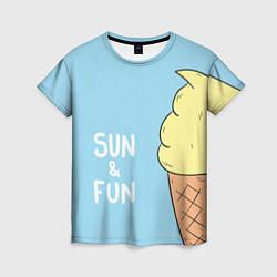 Футболка женская Sun & Fun цвета 3D — фото 1