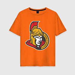 Футболка оверсайз женская Ottawa Senators цвета оранжевый — фото 1