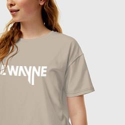 Футболка оверсайз женская Lil Wayne цвета миндальный — фото 2