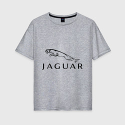 Футболка оверсайз женская Jaguar цвета меланж — фото 1