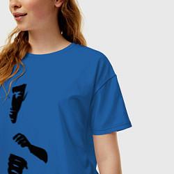 Футболка оверсайз женская Bruce Lee цвета синий — фото 2