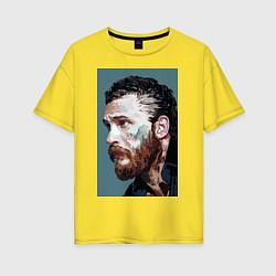 Футболка оверсайз женская Том Харди Ван Гога цвета желтый — фото 1