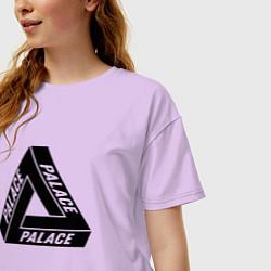 Футболка оверсайз женская Palace Triangle цвета лаванда — фото 2