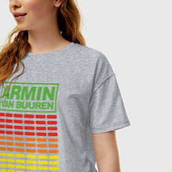 Футболка оверсайз женская Armin van Buuren: EQ цвета меланж — фото 2