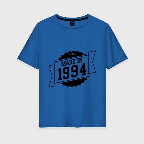 Женская футболка оверсайз Made in 1994 / Синий – фото 1