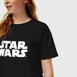 Футболка оверсайз женская Star Wars цвета черный — фото 2