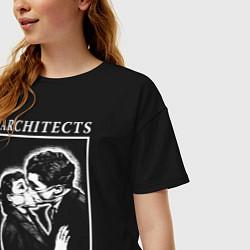 Футболка оверсайз женская Architects: Love цвета черный — фото 2