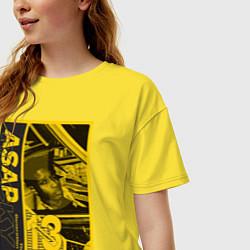 Футболка оверсайз женская ASAP Rocky: Place Bell цвета желтый — фото 2