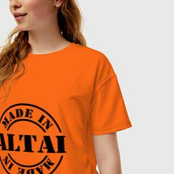 Футболка оверсайз женская Made in Altai цвета оранжевый — фото 2