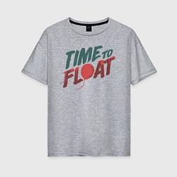 Футболка оверсайз женская Time to float цвета меланж — фото 1