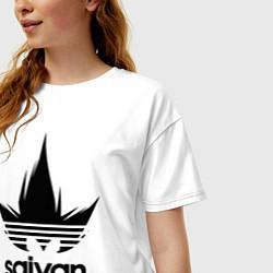 Футболка оверсайз женская Saiyan цвета белый — фото 2