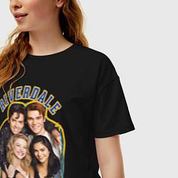 Футболка оверсайз женская Riverdale heroes цвета черный — фото 2