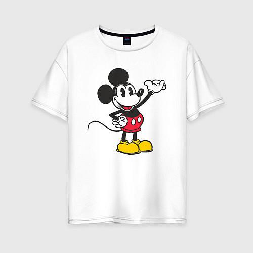 Женская футболка оверсайз Микки Маус / Белый – фото 1