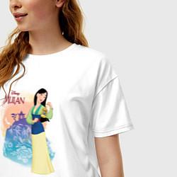 Футболка оверсайз женская Fa Mulan цвета белый — фото 2