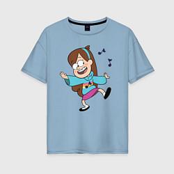 Футболка оверсайз женская Поющий свитер Мэйбл цвета мягкое небо — фото 1