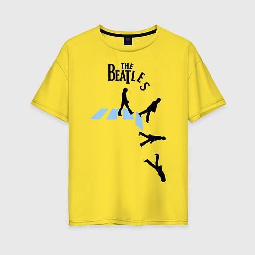 Женская футболка оверсайз The Beatles: break down / Желтый – фото 1