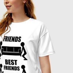 Футболка оверсайз женская Best friends цвета белый — фото 2