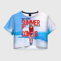 Футболка 3D укороченная женская Summer is coming цвета 3D-принт — фото 1
