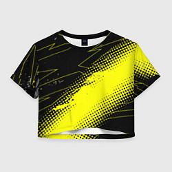Футболка 3D укороченная женская Bona Fide Одежда для фитнеcа цвета 3D-принт — фото 1