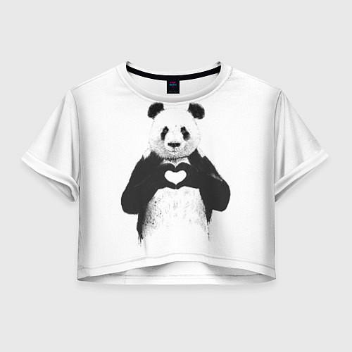 Женский топ Panda Love / 3D – фото 1