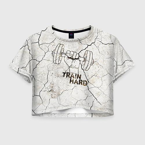 Женский топ Train hard / 3D – фото 1
