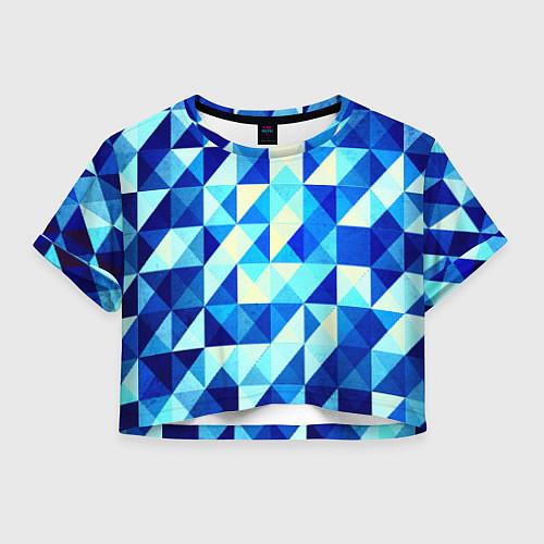 Женский топ Синяя геометрия / 3D – фото 1