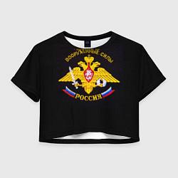 Женский топ ВС России: вышивка