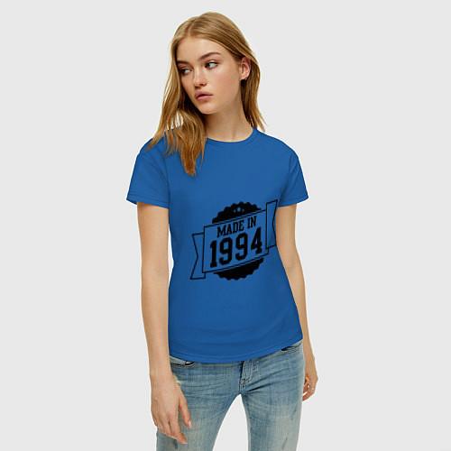 Женская футболка Made in 1994 / Синий – фото 3